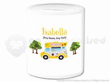 Personalised Gift Ice Cream Van Money Box Cone Scoop Driver Vendor Present #4