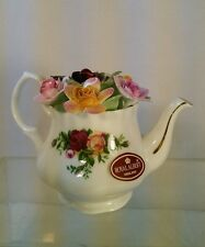 RARE Vtg 1962 Royal Albert England BONE CHINA Teapot OLD COUNTRY ROSES Miniature