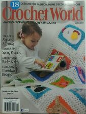 Crochet World April 2017 Designs for Fashion Home Decor Kids FREE SHIPPING sb