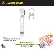Leatherman Quick-Release Lanyard Ring & Removable Pocket Clip Stainless 934850