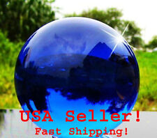 80mm Blue Sapphire Quartz Clear Magic Crystal Healing Ball Sphere Display Stand