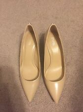 Michael Michael Kors Flex Kitten Pump Women Size 10 Nude Leathe Heels Point Toe