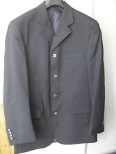 Willson Mens Black Striped Suit with vest Chest 38 in. Trousers 32 in