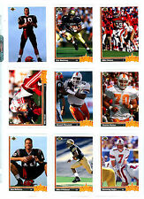 1991 Upper Deck Football : Pick 15 Cards To Complete Your Set $ 1.00 NM/M