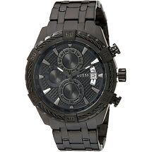 GUESS MEN'S CHRONOGRAPH WITH DAY/ DATE STAINLESS  WATCH, U0522G2 NEW. GREAT GIFT
