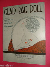 Glad Rag Doll 1929 Sheet Music Yellen, Ager & Dougherty Jacques Mayes cover