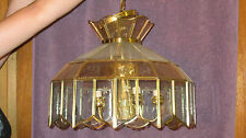 """12""""-22"""" BRASS. CLEAR AND GLASS CHANDELIER CEILING LIGHT FIXTURE WITH 5 LIGHTS"""