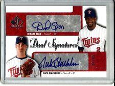 Denard Span-Nick Blackburn 2009 SP Authentic Dual Autograph #01/15