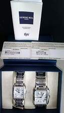 NEW Raymond Weil Saxo Stainless steel His and hers watch set.