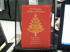 TO BOTH OF YOU WITH LOVE AT CHRISTMAS CARD AMERICAN GREETINGS RED SPARKLES NEW