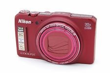 NIKON COOLPIX S9700 16.0MP 3''SCREEN 30x ZOOM DIGITAL CAMERA - RED