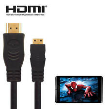 nVIDIA Shield Android Tablet HDMI Mini to HDMI TV 2.5m Long Black Lead Cable