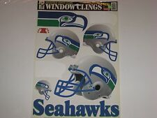 Seattle Seahawks Football NFL Reusable Static Cling Window Decals Stickers