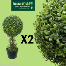 2 Best Artificial 2ft 60cm Boxwood Buxus Topiary One Ball Trees spiral bay cone