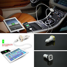 Car Cigarette Lighter Socket Splitter Dual USB Phone Charger Adapter Outlet 12V