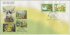 India MNH 2009 FDC Children´s Day Drawing, Art Tiger Cats Of Prey Deer Wildlife