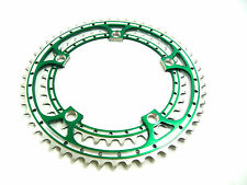 Green Chainring Set Rino Anodized 42 & 53T 144 BCD fits Campagnolo Cranksets NOS