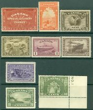 CANADA : Nice grouping of 9 Very Fine, Mint NH Better different. Cat $900