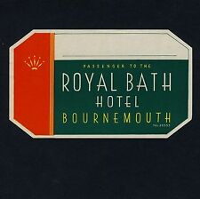Royal Bath Hotel BOURNEMOUTH England UK * Old Luggage Label Kofferaufkleber