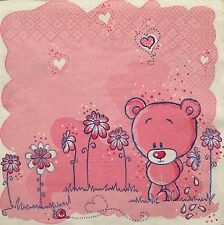 20 paper napkins Servietten Scrapbooking Decoupage Crafts Collection Teddy Bear