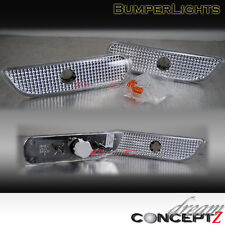 95-99 DODGE NEON FRONT BUMPER SIGNAL LIGHTS CLEAR PAIR