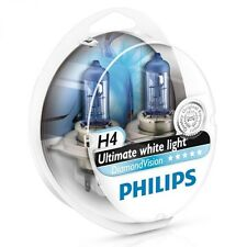 H4 PHILIPS Diamond Vision 5000K OZ Seller Ultimate White Light Bulbs Headlamp