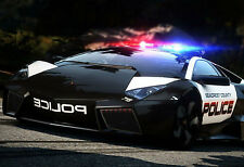 Framed Print - Seacrest County Lamborghini Police Car (Picture Poster Audi Art)