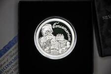 1 OZ  2013 SILVER SHIELD *CONSUMERISM* SILVER PROOF ROUND .999 W/CASE & COA