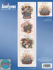 Cross Stitch Kit ~ Janlynn Floral Seasonal Baskets For All 4 Seasons #015-0245