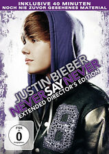 DVD * JUSTIN BIEBER - NEVER SAY NEVER - EXTENDED DIRECTOR'S EDITION # NEU OVP