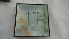 Fringe Studio Glass Trinket Vanity Tray#511070  MONOGRAM U-NIB