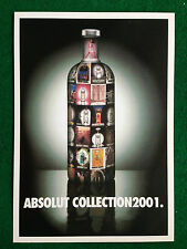 Pubblicità Advertising Cartolina vodka (Italy) ABSOLUT COLLECTION 2001 162/2789