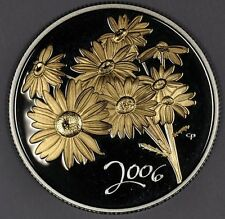 2006 Golden Daisy Golden Plated Sterling Silver 50 Cents Coin