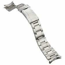 Solid Stainless Steel Watch Strap for Oyster Diver with Curved Ends 20 mm