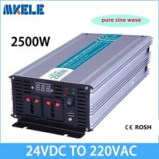 2500W DC24V to AC220V Pure Sine Wave Power Inverter Off Grid LED Display