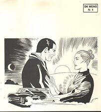 illustrazione GIORGIO MONTORIO menù pranzo Diabolik Club 6/5/2001