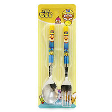 Pororo simple spoon & fork set / Pororo blue spoon & fork (standard & sweety)