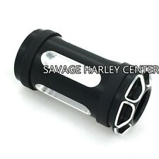 Black CNC Aluminum Edge Deep Cut Shifter Pegs For Harley Touring parts