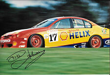Dick Johnson SIGNED 12x8 Ford Falcon , Australian Legendary Touring Car Driver