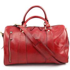 Luxus Reisetasche echt Leder Tasche Business Sporttasche Weekender Rot XL NEU