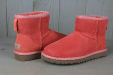 UGG CLASSIC MINI SCALLOP CORAL REEF AWESOME COLOR WOMENS US 7 NEW