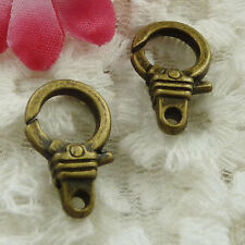 Free Ship 30 pieces bronze plated cute lobster clasp 19x12mm #1332