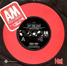 """IGGY POP - CRY FOR LOVE - 7"""" 45 VINYL RECORD 1986"""
