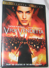 V For Vendetta DVD, 2006, Widescreen Action Adventure FREE SHIPPING U.S.A.