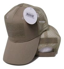 Khaki Desert Mesh Operator Operators Tactical Cap Hat Patch adjustable strap