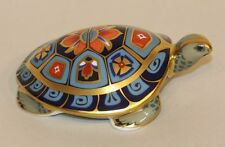 2000 Royal Crown Derby Blue Imari Gold Stopper Paperweight Terrapin Turtle