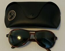 Ray-Ban sunglasses vagabond aviator B&L USA luxottica in case vintage tortoise