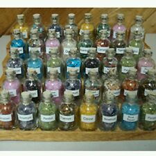 50 Mini Gemstone Bottles Chip Crystal  Tumbled Gem Stones Set