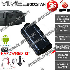 3G GPS Tracker Hardwired Kit Anti Vehicle Car Boat Caravan Theft 5000mAh Remote