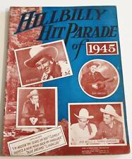 Partition Songbook Sheet Music : HILLBILLY Hit Parade of 1945 * Piano / Guitar